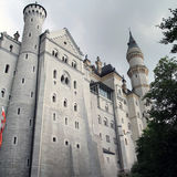 North wall of the Neuschwanstein castle Royalty Free Stock Photos
