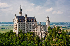 Neuschwanstein castle in Germany. Built by Ludwig II Stock Images