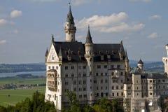 Neuschwanstein Castle Germany. Side view medium shot Stock Images