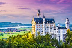 Neuschwanstein. Castle in Germany Royalty Free Stock Images