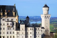 Neuschwanstein castle, Romantic Road Royalty Free Stock Photography