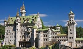 Neuschwanstein Castle in Germany. Klagenfurt. Miniature Park Stock Photo