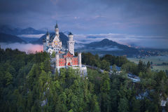 Neuschwanstein Castle, Germany. Neuschwanstein Castle is a nineteenth-century Romanesque Revival palace on a rugged hill above the village of Hohenschwangau royalty free stock photography
