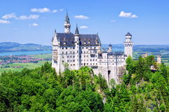 Neuschwanstein Castle, Germany. Neuschwanstein Castle is a romantic 19th century palace built by bavarian king Ludwig II in Alps mountain. It inspired Disneyland royalty free stock photo