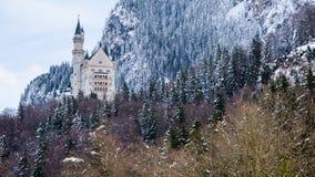 Neuschwanstein Castle, Germany. In winter Stock Photos