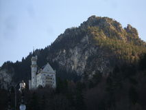 Neuschwanstein Castle. Neuschwanstein Castle on a Hill in Germany stock photos