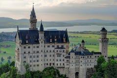 Neuschwanstein Castle and Hohenschwangau at sunset Stock Photography
