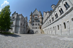 Neuschwanstein Castle. The inner courtyard of the castle Royalty Free Stock Photo