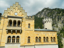 Neuschwanstein castle interior courtyard Stock Photo
