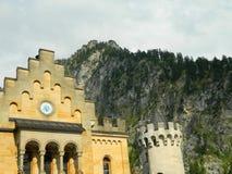 Neuschwanstein castle interior courtyard Royalty Free Stock Photos