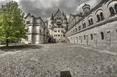 Neuschwanstein Castle Main Square Royalty Free Stock Photography