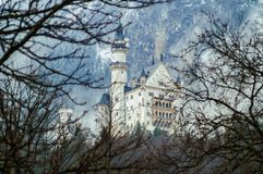 Neuschwanstein Castle. New Swanstone Castle. Fairytale palace royalty free stock photography