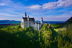 Neuschwanstein castle panorama Royalty Free Stock Image