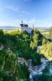 Neuschwanstein Castle and Poellat River Stock Image