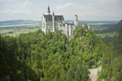 Neuschwanstein Castle with rainbow scenery Royalty Free Stock Photos