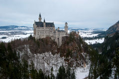Neuschwanstein Castle. On the rock, in winter Stock Photography