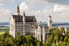 Neuschwanstein castle side view Royalty Free Stock Image