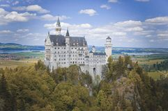 Neuschwanstein Castle at the Summer, Bavaria, Germany Royalty Free Stock Image