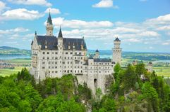 Neuschwanstein Castle at the Summer, Bavaria, Germany Stock Image