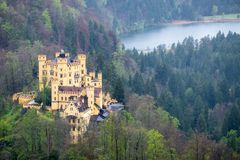 Neuschwanstein castle in a summer day in Germany royalty free stock photography