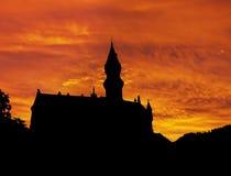 Neuschwanstein castle sunrise Royalty Free Stock Photos