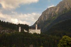 Neuschwanstein castle at sunset, Germany Stock Image