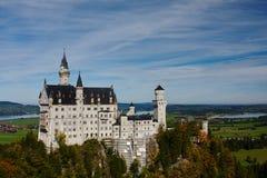 Neuschwanstein castle. View on Neuschwanstein castle from Marien bridge Royalty Free Stock Photography