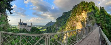 Neuschwanstein Castle from the viewing bridge Stock Images