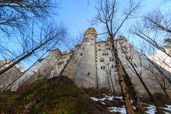 Neuschwanstein Castle in winter landscape, Fussen, Germany Royalty Free Stock Images