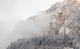Neuschwanstein Castle in winter landscape Stock Photography