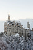 Neuschwanstein Castle in winter landscape Stock Photo