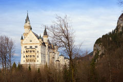 Neuschwanstein castle in winter time Stock Images