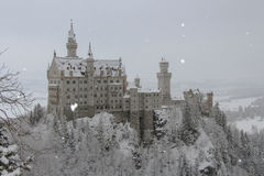 Neuschwanstein Castle in winter time. Fussen. Germany. Stock Images