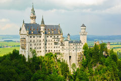 Neuschwanstein Disney's catle in Bavaria Royalty Free Stock Images