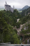 Neuschwanstein distorted Royalty Free Stock Image