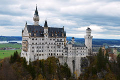Neuschwanstein fairytale castle stock photo