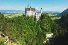 Neuschwanstein, Germany. View of the castle Neuschwanstein, Germany Royalty Free Stock Image