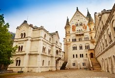 Neuschwanstein inner yard Royalty Free Stock Image