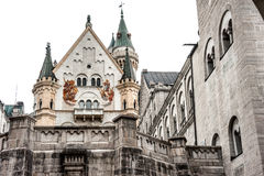 Neuschwanstein interior court Royalty Free Stock Image