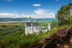 Neuschwanstein kasztel jest pałac blisko Fussen w Bavaria Zdjęcia Stock