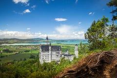 Neuschwanstein kasztel jest pałac blisko Fussen w Bavaria Fotografia Royalty Free