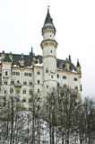 Neuschwanstein kasztel podczas zimy Fotografia Royalty Free