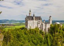 Neuschwanstein kasztel w Fussen, Bavaria, Niemcy Zdjęcie Stock