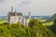 Neuschwanstein kasztel w Fussen, Bavaria, Niemcy Obrazy Royalty Free