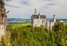 Neuschwanstein kasztel w Fussen, Bavaria, Niemcy Zdjęcie Royalty Free