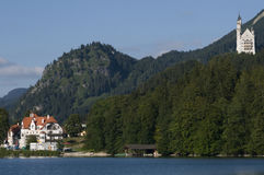 Neuschwanstein by the lake Stock Photography