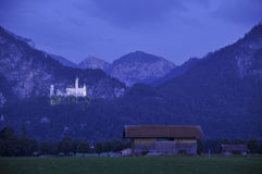 Neuschwanstein by night Royalty Free Stock Photos