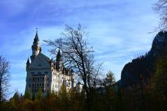 Neuschwanstein. Nineteenth-century Romanesque Revival palace on a rugged hill above the village of Hohenschwangau near Füssen in southwest Bavaria, Germany Stock Photos