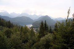 Neuschwanstein panorama Royalty Free Stock Image