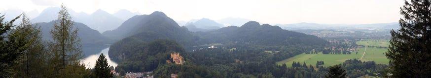 neuschwanstein panorama obraz royalty free